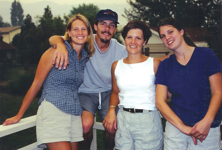 Josh Kendall, 24, poses with his sisters in August 2000. Five weeks later Josh died by his own hand. His mom Pat wonders if lack of access to competent mental health treatment in their rural Montana town contributed to her son's struggles – and ultimately his self-inflicted death.